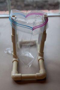 PVC baggie holder...