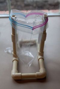 PVC baggie holder...   PVC Pipe Crafts   Pinterest