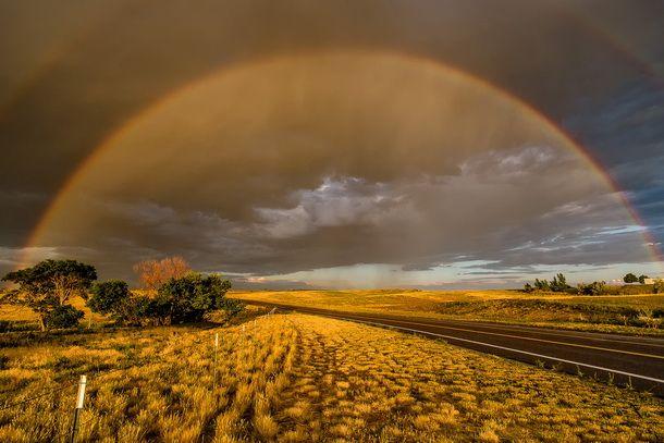 Как фотографировать радугу. Полная радуга