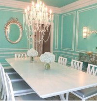 Look at this Tiffany blue dining room | Decor ideas ...