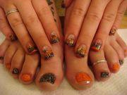 halloween nails toenail design