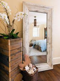 Large standing floor mirror | Master bedroom | Pinterest