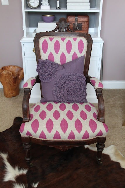 gorgeous reupholstered chair
