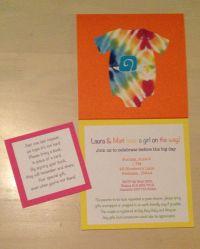 Tie dye Baby Shower invite | Baby Shower Ideas | Pinterest