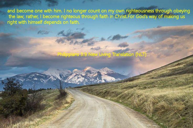 Philippians 3.9 New Living Translation (NLT)