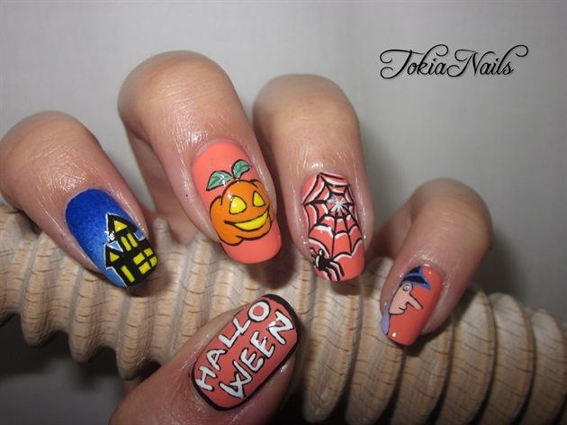 Halloween time by TokiaNails - Nail Art Gallery nailartgallery.nailsmag.com by Nails Magazine www.nailsmag.com #nailart