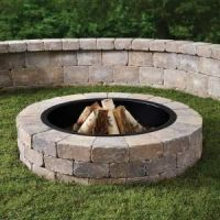 52 in. Northwoods Fresco Round Fire Pit Kit with Metal Liner