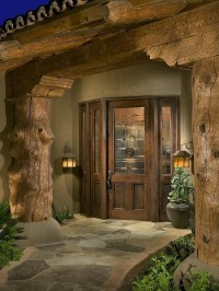 Exterior Log Home Door | For the Home | Pinterest