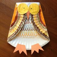 Paper plate owl | Kidlet Party Ideas! Night Owl Spa ...