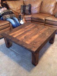 Homemade coffee table | Wood work | Pinterest