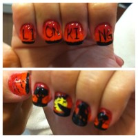 My friend and I's Lion King nails. | My nail designs ...