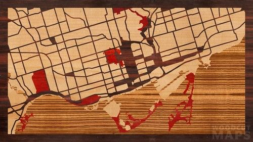 ... Ontario - Woodcut Maps: Handcrafted wood-inlay maps, designed by you