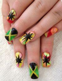 Jamaican nail designs | Summer nail art | Pinterest