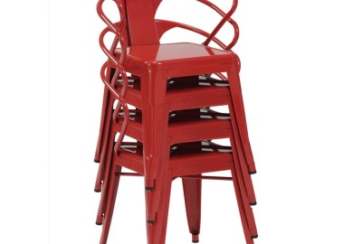 Red Tabouret Chairs