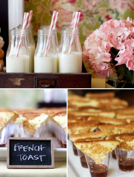 this idea is perfect for a non seated brunch also gotta love the milk source hostessblogcom via julie on pinterest