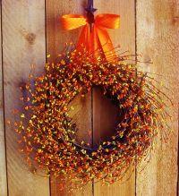 Fall Wreath-JUICY ORANGE Berry Door Wreath-Fall/Winter ...