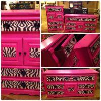 Girls bedroom set in HOT PINK & ZEBRA   Pink zebra ...
