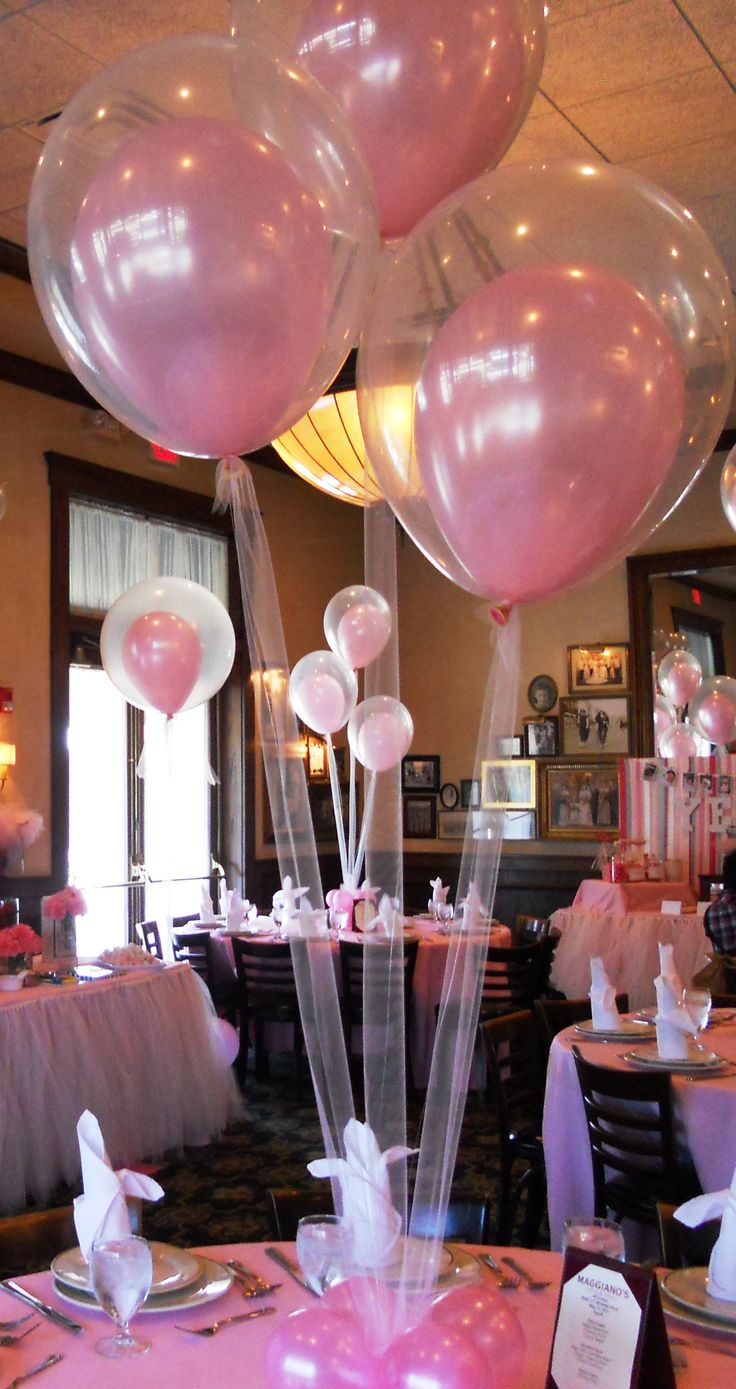 tulle instead of string for helium-filled balloons