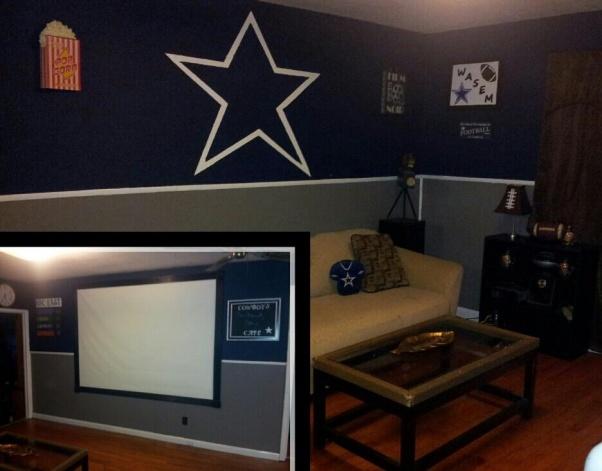dallas cowboys theme bedroom paint job  Sports  Pinterest