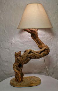 Driftwood Lamp Sculpture, Natural Design, Driftwood