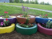 tire flower garden tire flower garden we made today tire