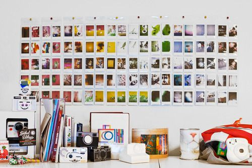Meanwhile, at Photojojo, we're busy arranging our Instax Mini prints chromatically