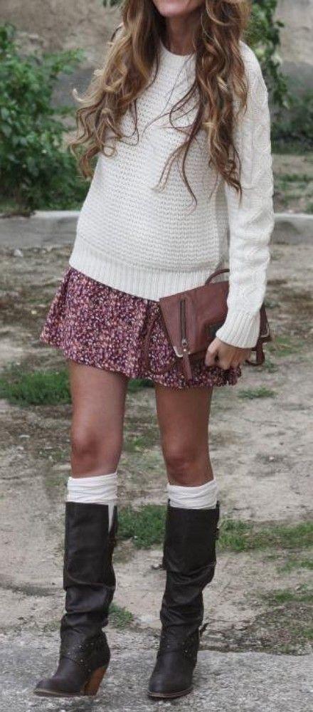 boots + skirt