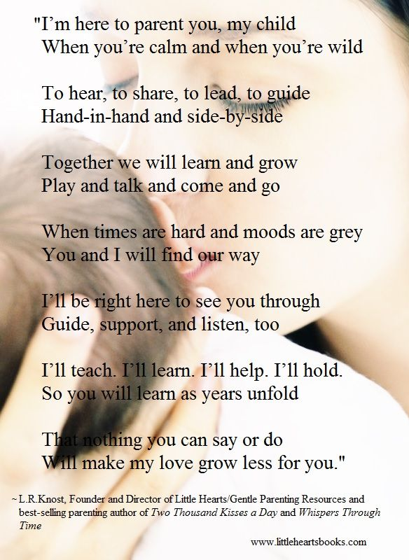 Getting excited for the release of my third parenting book 'The Gentle Parent: Positive, Practical, Effective Discipline' due out in November! This poem is part of the foreword. <3 ~L.R.Knost www.littleheartsbooks.com