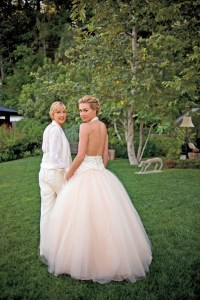 Portia de Rossi wedding dress | Hitched | Pinterest