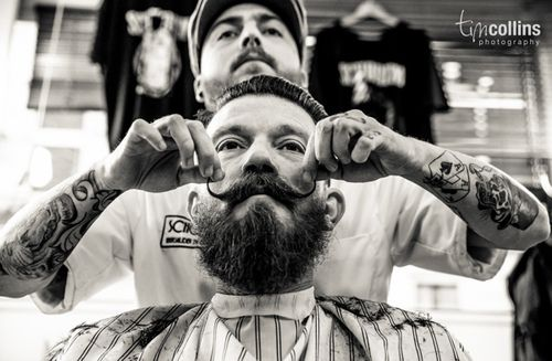Barbershop wax moustache