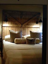 Barn door headboard | For the Home | Pinterest