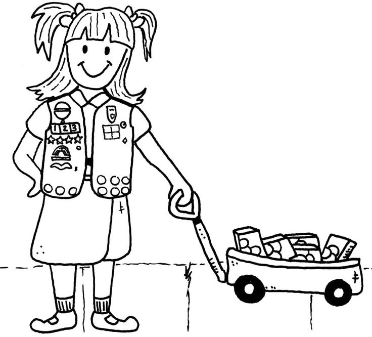 Girl Scout Brownie Coloring Pages Sketch Coloring Page