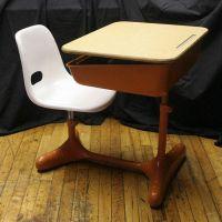 "Vintage Mid Century ""American Seating Co"" Student School ..."