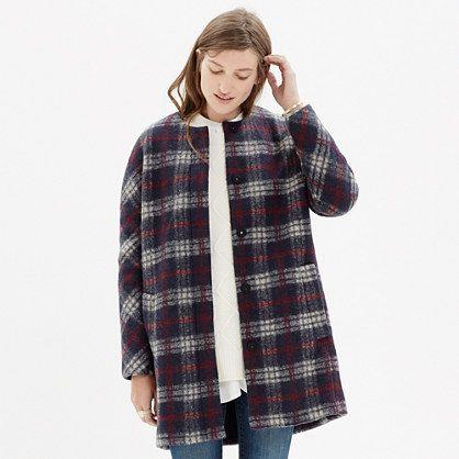 Madewell - Plaid Estate Coat