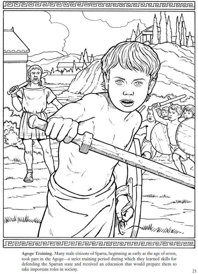 Spartan Warrior Coloring Pages Coloring Pages