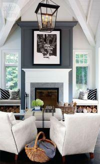 dark grey accent wall by Majaosek   House   Pinterest