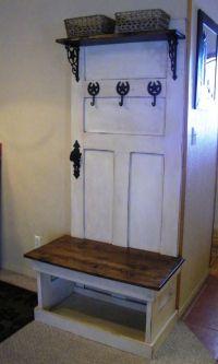 Rustic Hall Tree Bench | Furniture | Pinterest