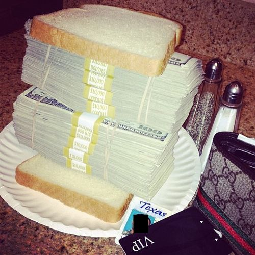 Money sandwich! Lol Keep it trill Pinterest