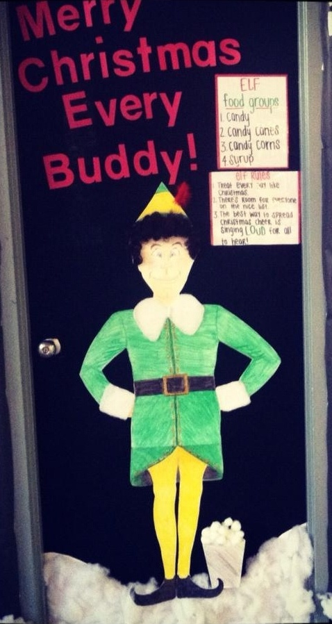 Buddy the Elf Classroom Door:)