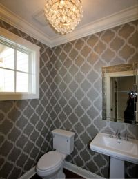 Main floor bathroom wallpaper.