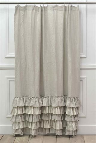Ruffle Shower Curtain  Casual Cottage