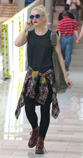 Gwen Stefani in '90s plaid always have the way she rpcked simple pieces like this!