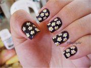 daisy nails easy nail art