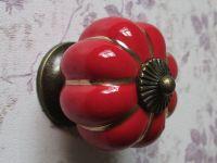 Red Kitchen Cabinet Knobs Pulls Handles Ceramic / Dresser ...