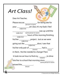 Mad Libs Worksheets for the art class | Art worksheets ...