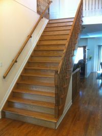 Solid wood stairs/railing | Stairs/Railings | Pinterest