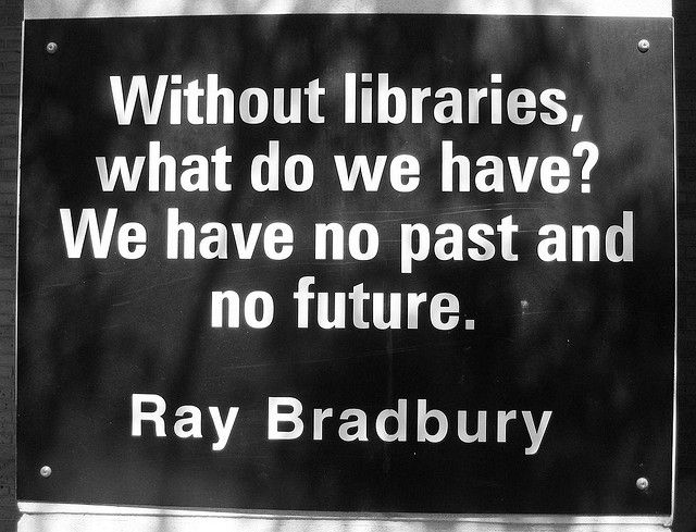 Without libraries, what do we have?