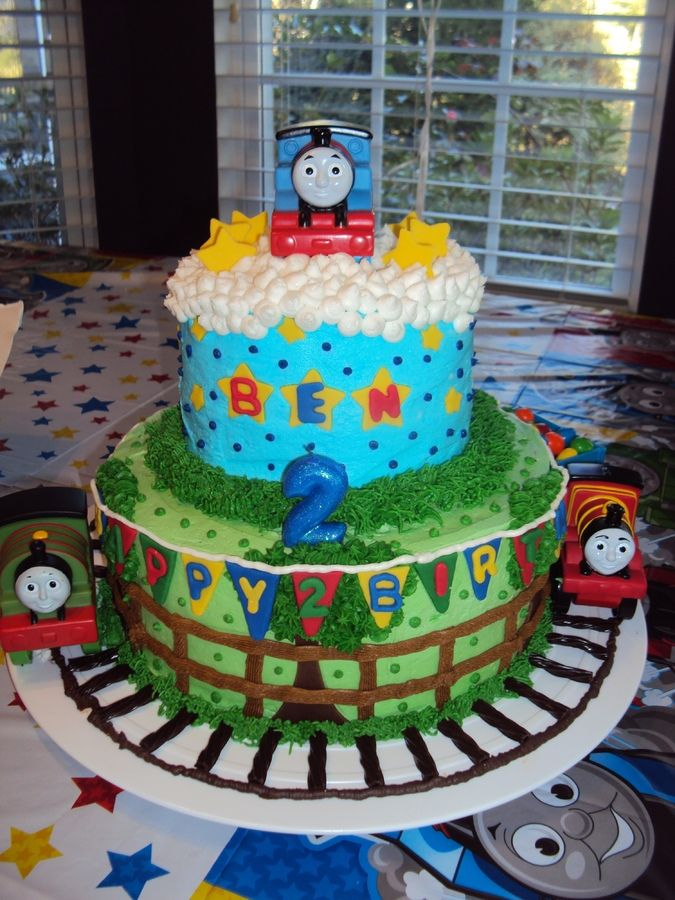 Thomas The Train 3rd Birthday Cake Ideas 99963 Two Tier Th