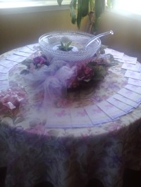 baby shower punch bowl | Deep purple and some blue | Pinterest