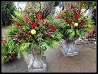 fall/winter outdoor planters | Flower arrangements | Pinterest